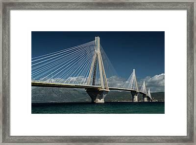 Postcard With Rio-andirio Bridge  Framed Print