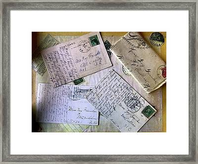 Postcards And Proposals Framed Print