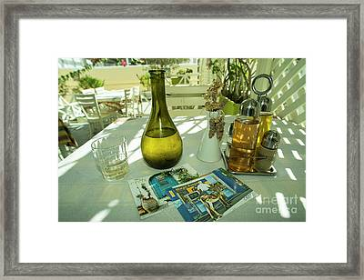 Postcards From Crete  Framed Print by Rob Hawkins