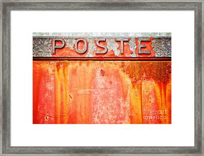 Poste Italian Weathered Mailbox Framed Print
