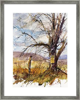 Posted Framed Print by Judith Levins