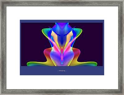 Poster --- Merging... Framed Print
