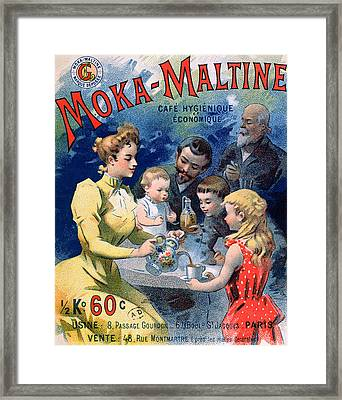 Poster Advertising Moka Maltine Coffee Framed Print by French School