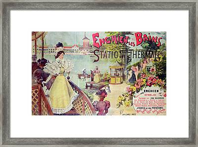 Poster Advertising Spa Resort  Framed Print by French School