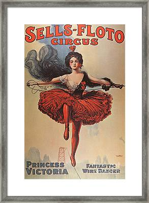 Poster Advertising The Sells Floto Circus, 1920  Framed Print