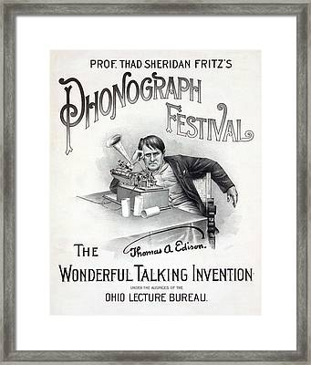Poster For A Music Festival, Text Reads Framed Print