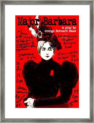 Poster For Major Barbara Framed Print