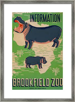 Poster For The Brookfield Zoo, Showing Framed Print by Everett