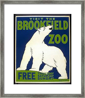 Poster For The Brookfield Zoo Framed Print
