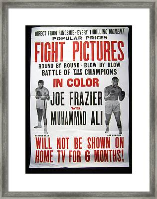 Poster For The First Joe Frazier Vs Framed Print
