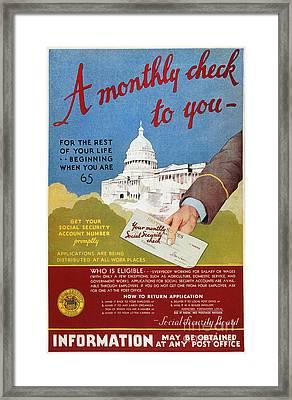 Poster: Social Security Framed Print
