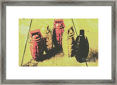 Framed Print featuring the photograph Posterized Granade Art by Jorgo Photography - Wall Art Gallery