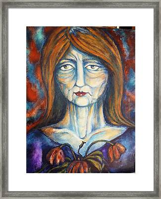 Framed Print featuring the painting Postmenopausal by Rae Chichilnitsky
