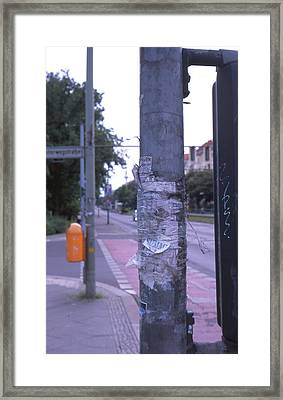 Posts And Towers In Berlin Framed Print