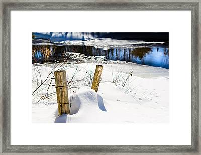 Posts In Winter Framed Print
