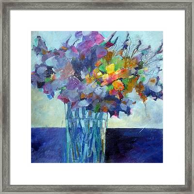 Posy For Lavender Lovers Framed Print by Susanne Clark