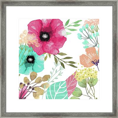 Posy Framed Print by Mindy Sommers