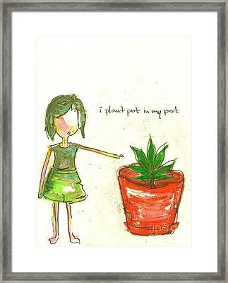 Pot In My Pot Framed Print by Ricky Sencion
