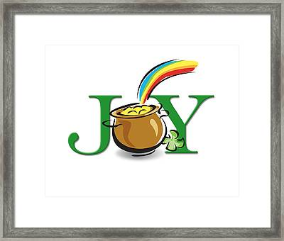 Pot Of Gold Joy Framed Print