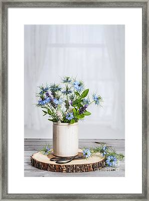 Pot Of Wild Flowers Framed Print by Amanda Elwell