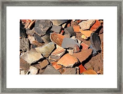 Pot Shards Framed Print by Joe Kozlowski