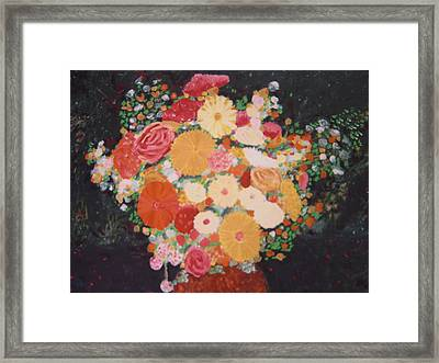 Pot With Flowers Framed Print by Biagio Civale