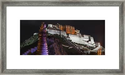 Potala Palace At Night. Historic Framed Print by Phil Borges