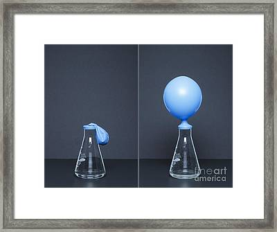Potassium Carbonate Reacts With Citric Framed Print