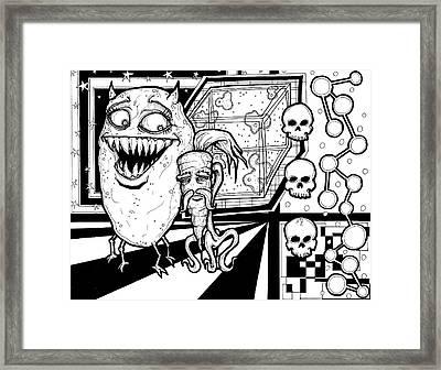 Potato Carrot Montage Framed Print by Christopher Capozzi