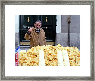 Potato Chip Man Framed Print