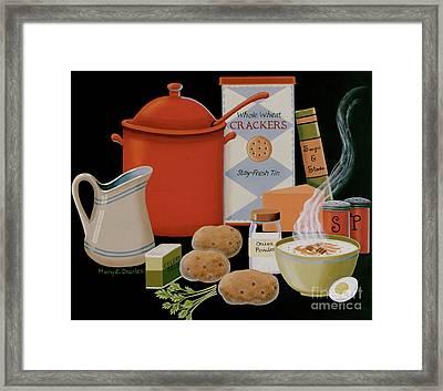 Potato Soup Framed Print by Mary Charles