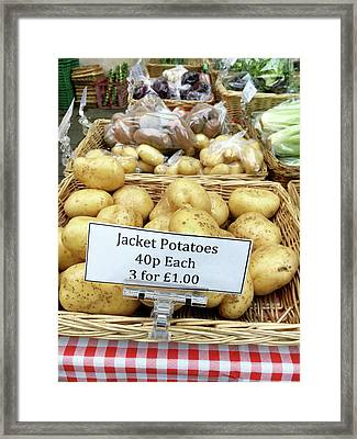 Potatoes At The Market  Framed Print by Tom Gowanlock