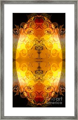 Potential Sources Of Joy Abstract Organic Art By Omaste Witkowsk Framed Print by Omaste Witkowski