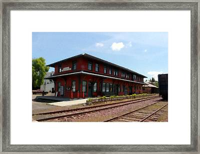 Potlatch Depot Framed Print by Matt McCune