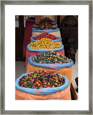 Potpourri For Sale In Souk, Marrakesh Framed Print by Panoramic Images