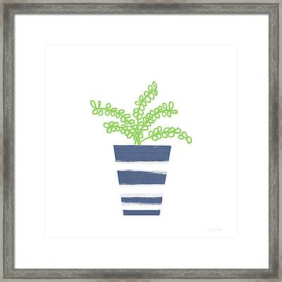 Framed Print featuring the mixed media Potted Plant 1- Art By Linda Woods by Linda Woods
