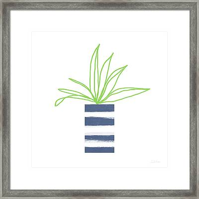 Framed Print featuring the mixed media Potted Plant 2- Art By Linda Woods by Linda Woods