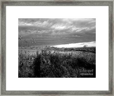 Potter Hill Meadows After Storm Framed Print