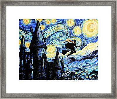 Potter Starry Night Framed Print