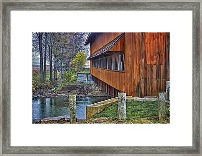 Union County Covered Bridge Framed Print by William Sturgell