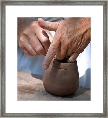 Pottery Maker Framed Print