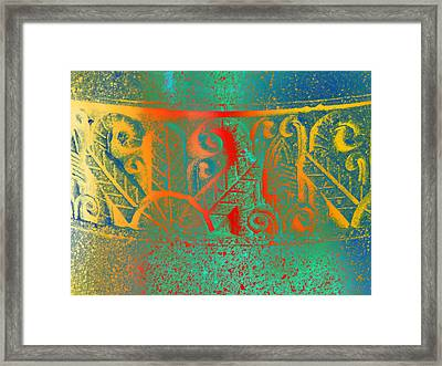 Pottery On The Street Framed Print