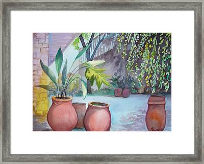 Framed Print featuring the painting Pottery Place by AnnE Dentler