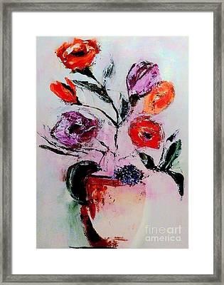Pottery Plants Framed Print by Lisa Kaiser