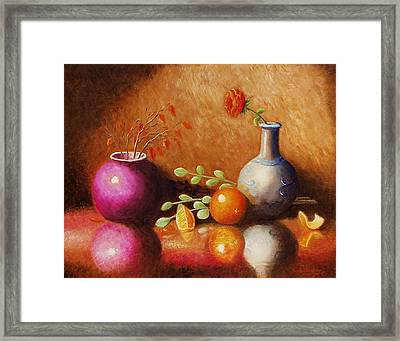Framed Print featuring the painting Pottery Plus by Gene Gregory