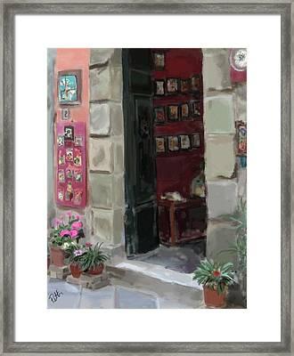 Pottery Shop Framed Print by Patti Siehien