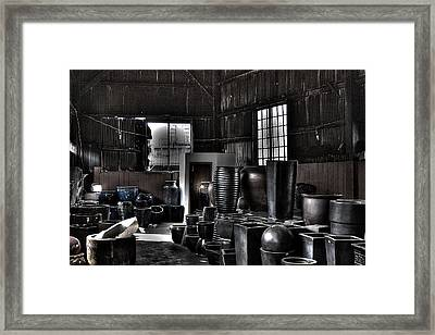 Pottery Warehouse Framed Print by David Patterson