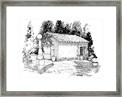 Potting Shed At Le Coin Retro In Le Thor France Framed Print
