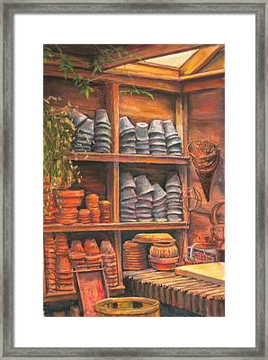 Potting Shed Framed Print by Sam Pearson
