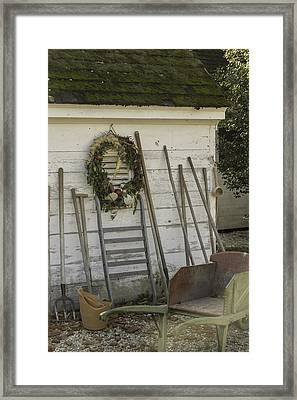 Potting Shed Vignette Framed Print